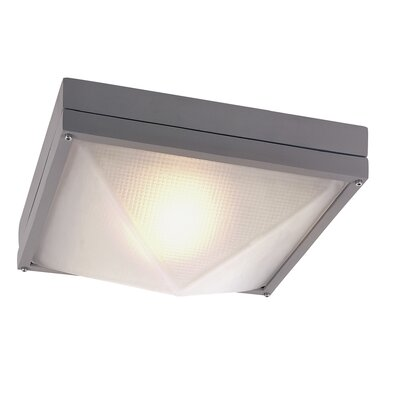 Dallum 1-Light Flush Mount Finish: Gray