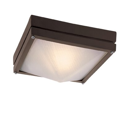 Dallum 1-Light Flush Mount Finish: Rust