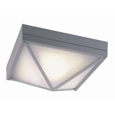 Cleophis 1-Light Flush Mount Finish: Gray