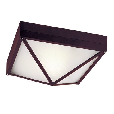 Cleophis 1-Light Flush Mount Finish: Rust