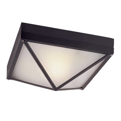Cleophis 1-Light Flush Mount Finish: Black