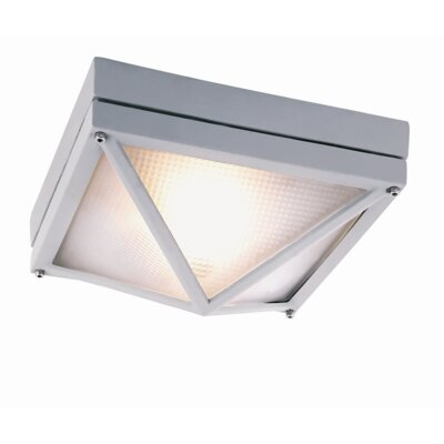Lanell 1-Light Flush Mount Finish: Gray