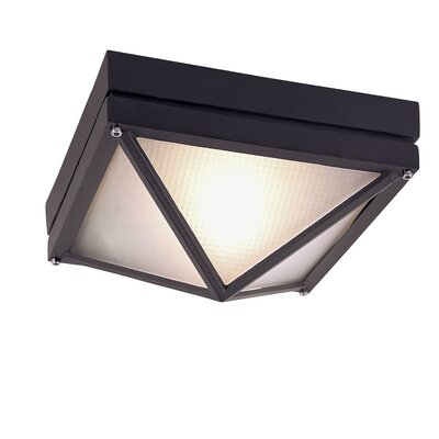 Danwood 1-Light Flush Mount Finish: Black