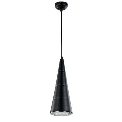 Dellrey 1-Light Mini Pendant Finish: Black