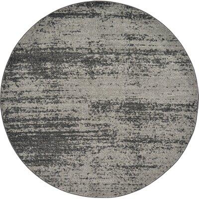 Croslin Gray Area Rug Rug Size: Round 8