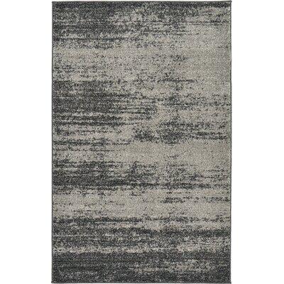 Croslin Gray Area Rug Rug Size: 3'3