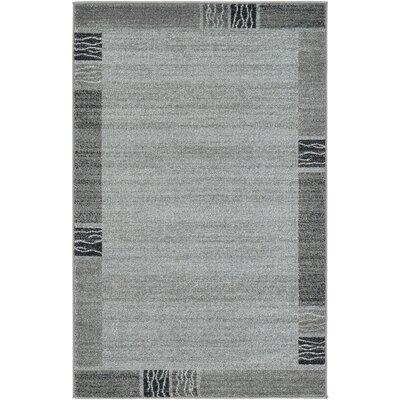 Croslin Light Gray Area Rug Rug Size: 33 x 53