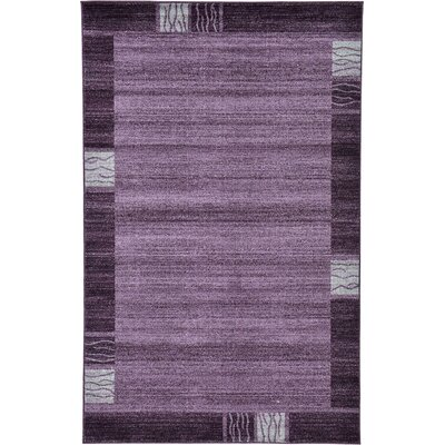 Christi Purple Area Rug Rug Size: Rectangle 5 x 8