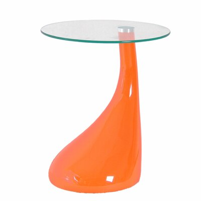 Cristian End Table Color: Orange