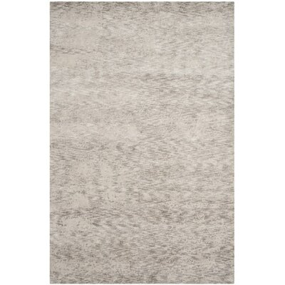 Armstrong Abstract Hand-Knotted Gray Area Rug Rug Size: Rectangle 9 x 12