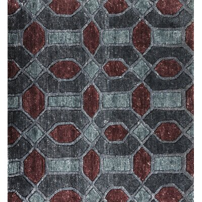 Arline Hand-Knotted Gray/Brown Area Rug Rug Size: 2' x 3'