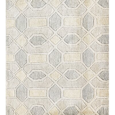 Arline Hand-Knotted Beige Area Rug Rug Size: Rectangle 6' x 9'