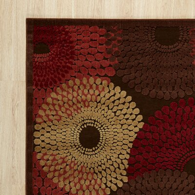 Brown/Red Area Rug Rug Size: 2 x 5