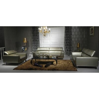 Coalpit Heath Metal Frame Leather Sofa Set