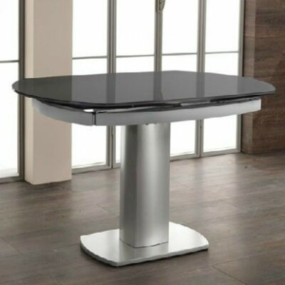 Clower Extendable Tempered Glass Base Dining Table