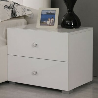 Clower 2 Drawer Block Feet Nightstand