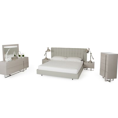 Clower Platform 5 Piece Wood Bedroom Set Size: King