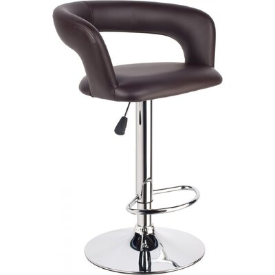 Clower Upholstered Adjustable Height Swivel Bar Stool