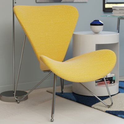 Brooklyn Contemporary Accent Chair Color: Yellow