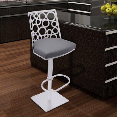 Bradberry Adjustable Height Swivel Bar Stool with Cushion