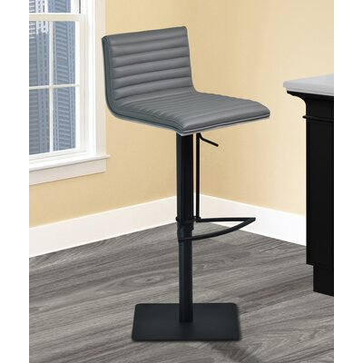 Burwell Adjustable Height Swivel Bar Stool with Cushion