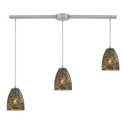 Lucy 3-Light Kitchen Island Pendant Finish: Smoke