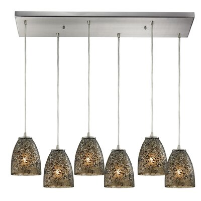 Lucy 6-Light Kitchen Island Pendant Finish: Smoke