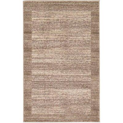 Elaina Beige/Brown Area Rug Rug Size: 5 x 8