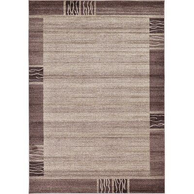 Christi Light Brown Area Rug Rug Size: 7 x 10