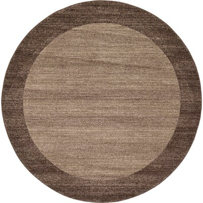 Elaina Light Brown Area Rug Rug Size: Square 8