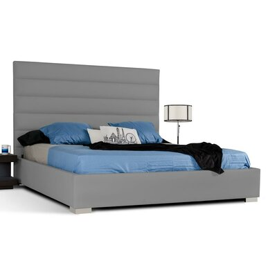 Camron Upholstered Platform Bed Size: King, Color: Gray