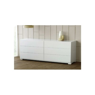 Clower 6 Drawer Double Dresser