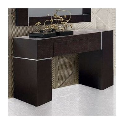 Patterson Wall Console with Mirror Finish: Dark Wenge