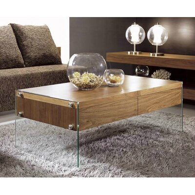 Clower Glass Base Coffee Table