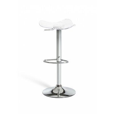 Clower Backless Adjustable Height Swivel Bar Stool