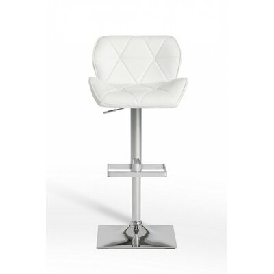Clower Modern Low Back Adjustable Height Swivel Bar Stool