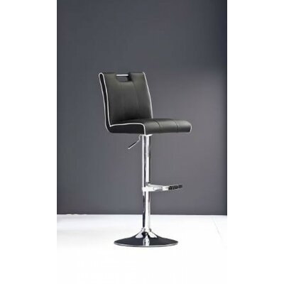 Clower Adjustable Height Swivel Bar Stool with Footrest