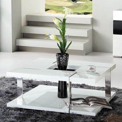 Clower Modern Square Coffee Table