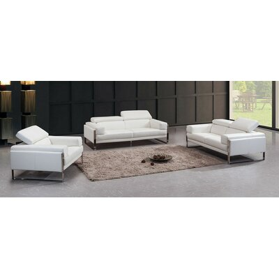 Coalpit Heath Leather 3 Piece Living Room Set