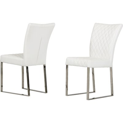 Clower Side Chair with Stainless Steel Legs