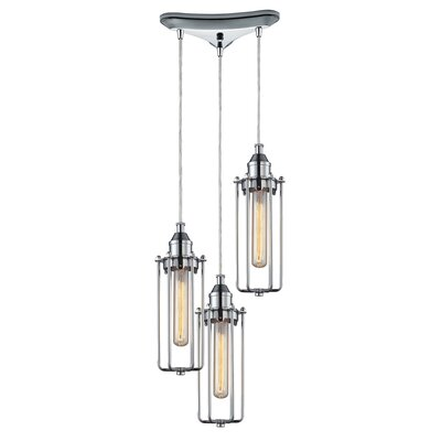 Rawlings Metal 3-Light Pendant