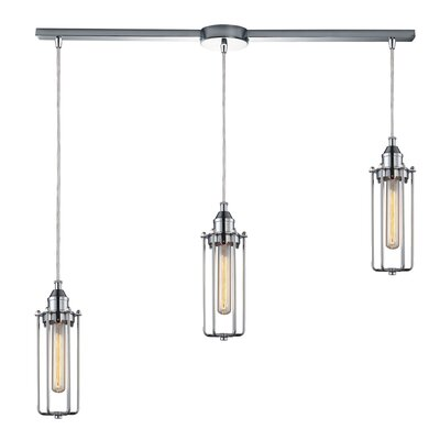 Rawlings Cylinder 3-Light Kitchen Island Pendant