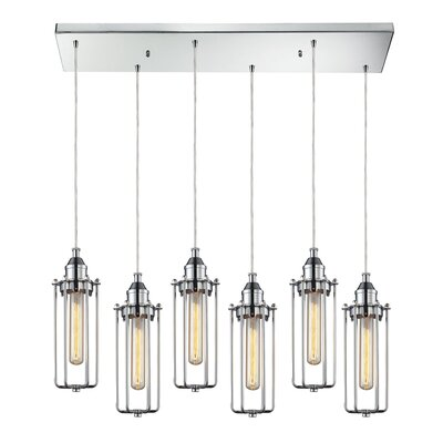 Joliet Metal 6-Light Kitchen Island Pendant