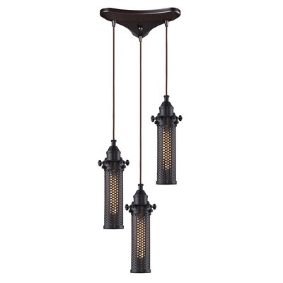 Rawlings Cylinder 3-Light Pendant