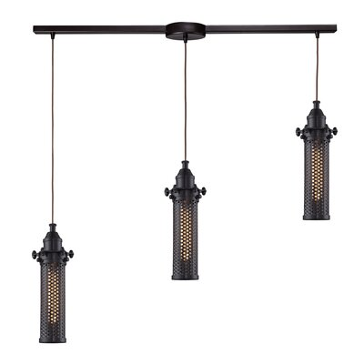 Rawlings Brown 3-Light Kitchen Island Pendant