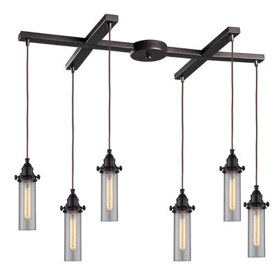 Joliet Flange Top 6-Light Kitchen Island Pendant