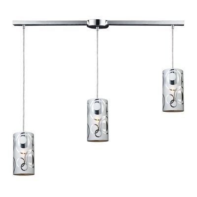 David 3-Light Linear Pendant