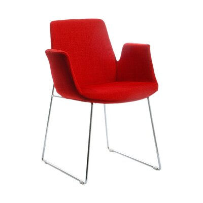 Belafonte Arm Chair Upholstery: Red