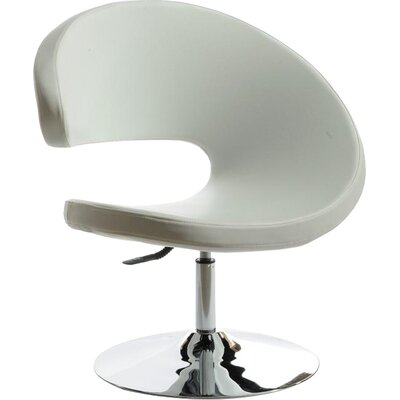 Belafonte Barrel Chair Upholstery: White