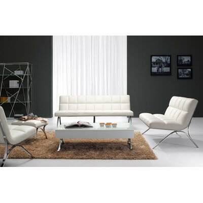 Alsatia Leather 3 Piece Living Room Set